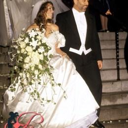 6/5/93 New York City ST. Thomas Episcopal Church/Metropolitan Club Wedding Mariah Carey to Thomas Mattola Mariah Carey & Thomas Mattola CR: RON GALELLA