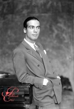 Cristobal Balenciaga (1895-1972), couturier espagnol. 1927.     LIP-12264