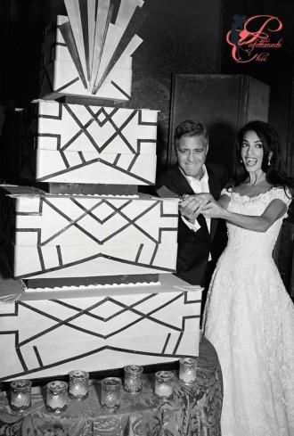 George_Clooney_Amal_Alamuddin_perfettamente_chic_wedding_cake
