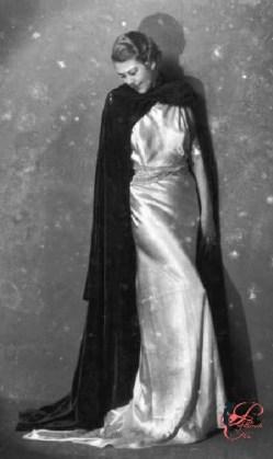 foto del 1934 di Emilio Sommariva un modello della sartoria Ventura di Milano, rilevata alla fine degli Anni '40